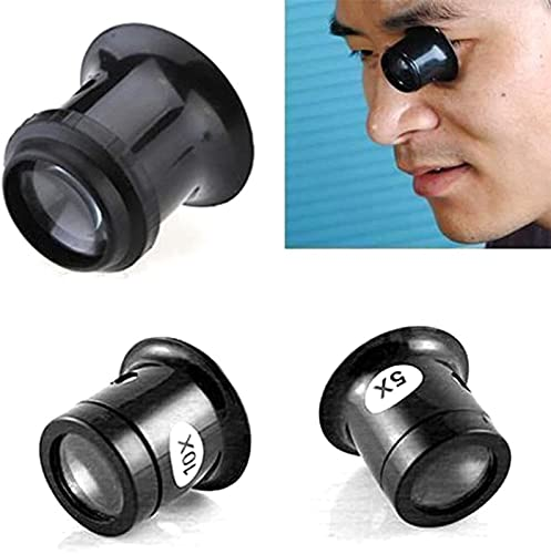 Starscope, Tragbare Schwarze 10X monokulare Lupe Lupenlinse Juwelier Uhr Lupenwerkzeug Augenlupe Len Repair Kit Tool