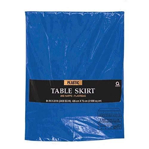 Amscan Falda de Mesa de plástico Azul, 4,2 x 73 cm
