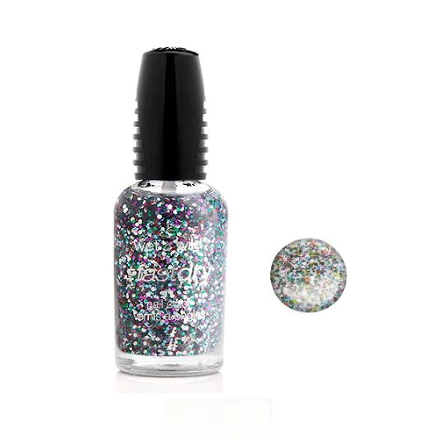 うがいイーウェル手数料(3 Pack) WET N WILD Fastdry Nail Color - Party of Five Glitters (DC) (並行輸入品)