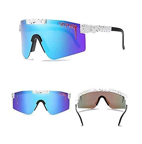 VBNHGF Pit Viper lunettes de soleil pour hommes lunettes de soleil de v/élo pour le cyclisme Double large protection UV400 polaris/ée