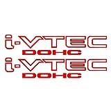 CloudWorks I-VTEC DOHC STICKER DECAL EMBLEM CIVIC S2000 ACCORD JDM 2 Pieces (RED)