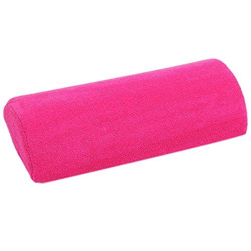 Coussin Repose-main Oreiller Souple pour Nail Art Manucure - Rose Rouge