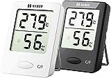 Habor Thermomètre Hygromètre numérique Intérieur, Thermomètre D'ambiance, Jauge...