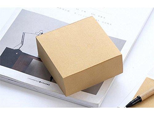 OVVO Einfach Kraft-Abdeckungs-Quadratischer klebriger Hinweis für Klassifikationspapier-Ziegel-Mitteilungs-Anmerkung (Hellbraun)