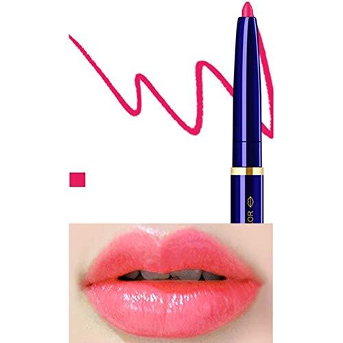 Yiwa Double Tête Cosmétique Professionnel Lipliner Imperméable Dame Charme Lèvres Lèvres Doux Crayon Contour Rouge À Lèvres 03#
