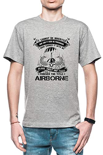Rundi Airborne Infantry Mom Airborne Jump Wings Airborne Badge Airborne Brot Hombre Camiseta Gris Tamaño L - Men's T-Shirt Grey