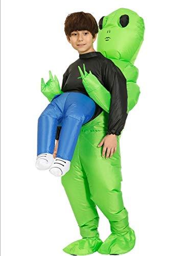 Disfraz inflable de FUJILU-Alien Alien para disfraz inflable, divertido, disfraz de Halloween, disfraz de Halloween, para adultos, para fiestas de carnaval, disfraz inflable (adulto)