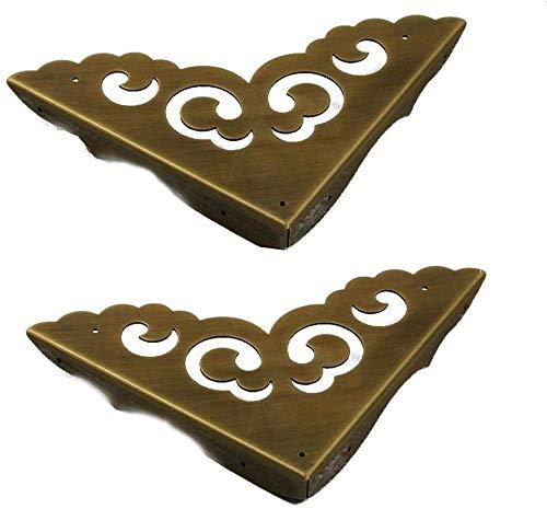 DX Retro Corner Protector Rechterhoek Hoekbeugels/Bronzen Guard Edge Cover worden gebruikt voor het decoreren van antieke dozen, kasten, tafels en stoelen, etc.2stks 16 * 11,5 cm