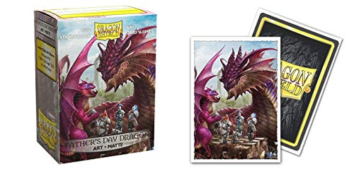Arcane Tinmen Dragon Shield Sleeves - Matte 100 CT - MGT Card Sleeves - Compatible with Magic The Gathering Card Sleeves Pokémon and Other Card Games - Limited Edition Art: Father's Day, ART12049