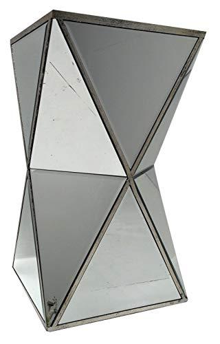 Interieurs In Vogue Diamant Gespiegelde Bijzettafel - Venetiaanse Glas Woonkamer Meubels Met Zilver Trim