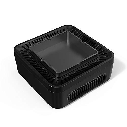 WXXKA Cenicero Función Purificación Aire Turbo Ventilador Titular Cenizas para Cigarros O Cigarrillos para Fumadores Decoración Regalo para Sala Estar Oficina Batería Litio 4000MAH