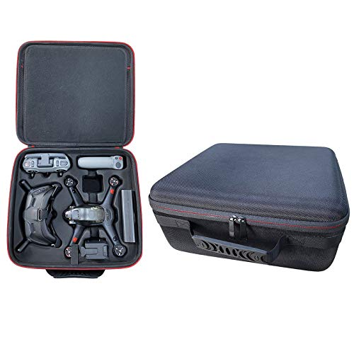 DJFEI Hardshell Koffer für DJI FPV Combo Drone und Zubehör, wasserdicht Tragetasche Zubehör kompatibel mit DJI FPV Combo Drone und Goggles/Fernbedienung/Akku (A)