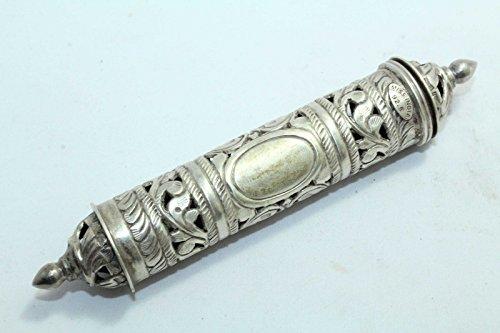 Rajasthan Gems, scatola di pergamena in argento Sterling con design tradizionale a mano, punzonato, 92,5