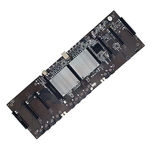 ShiftX4 Placa base, BTC X79 Miner Motherboard LGA 2011 8* PCI-E 16X Ranura para Tarjeta Gráfica 60mm Distancia para ETH BTC Miner Soporta 9* 3060 GPU