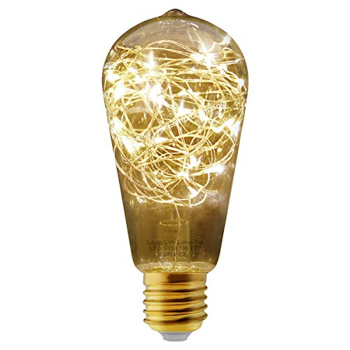 1w ST58 LED Industrial Decorative Light Bulb Coloured Fairy String Filament E27 (Warm)