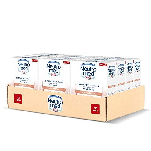Neutromed Detergente Intimo Delicatezza, con Complesso Micellare, Azione Protettiva, pH 4.5, 12 Pezzi x 200 ml