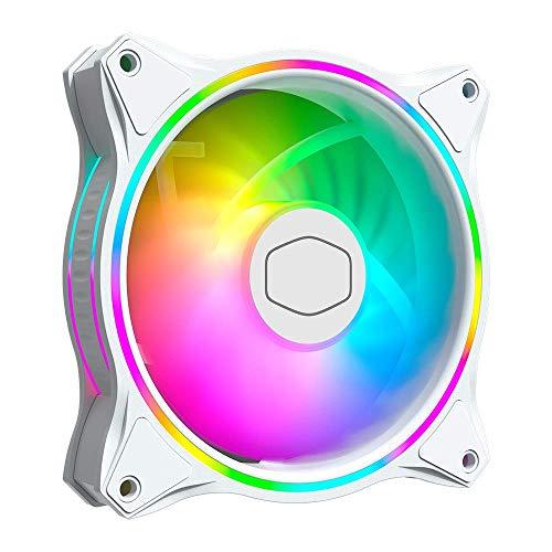 Cooler Master MasterFan MF120 Halo White Edition Ventilador RGB direccionable de 120 mm, Blanco