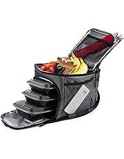 روكلاند جارد - حقيبة تبريد معزولة لحفظ الطعام - صندوق طعام محمول ساخن أو بارد للتحكم في الوجبات في العمل أو الصالة الرياضية أو السفر. (رمادي)