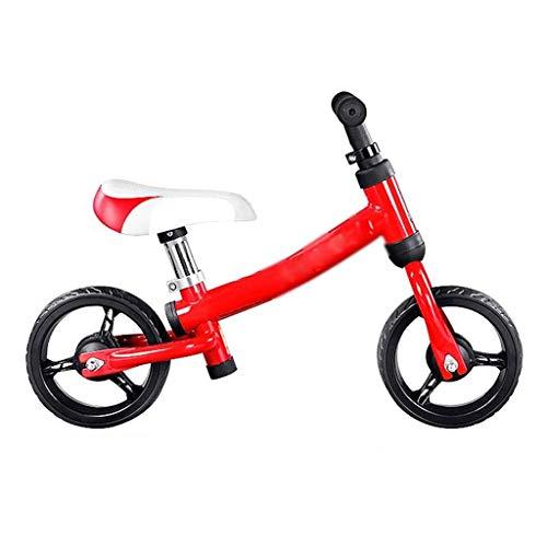 SZNWJ Ygqtbc Bicicletas for niños - Balance de Bicicletas sin Pedal de Ruta for Bicicletas con Marco de Acero al Carbono, Manillar y Asiento Ajustables, for niños de 2 a 6 años de Edad