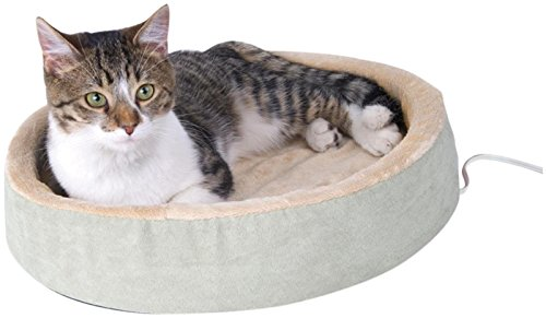 K&H Pet Products Thermo-Kitty Cuddle Up Heated Pet Bed Sage 16' 4W