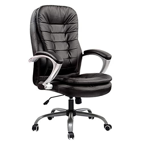 N&O Renovierungshaus Bürostühle Liegender Bürostuhl Computerstuhl Bürostuhl Leder Bürostuhl Chefsessel Gaming Drehstuhl Home Schreibtischstuhl Schreibtischstühle (Color : Brown Size : with feet)
