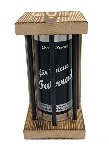 für`s Neue Fahrrad Eiserne Reserve ® Black Edition Spardose witzige Sparbüchse, Geschenkidee Geldgeschenk Sparbüchse Geschenk