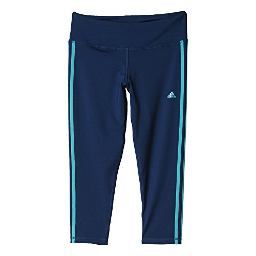 adidas Damen Leggings BSC 3S 3/4 Tigh Tight, Mineral Blue S16/Shock Green S16, XS