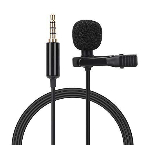 Fabater Micrófono de Solapa, Mini micrófono de Alta sensibilidad, Condensador omnidireccional portátil...