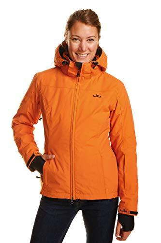 Jeff Green Damen Atmungsaktive wasserdichte Winter Ski Snowboard Jacke Kerava 12,000mm Wassersäule und Abnehmbare Kapuze, Größe - Damen:38, Farbe:Harvest Pumpkin