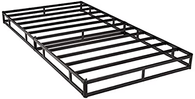 AmazonBasics Mattress Foundation / Smart Box Spring for Twin Size Bed, Tool-Free Easy Assembly