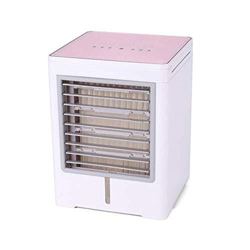 LIANGANAN USB Fan, El aire más fresco del purificador del humectador del aire mini ventilador del acondicionador silencioso refrigerador evaporativo móvil portátil de aire acondicionado El aire más fr