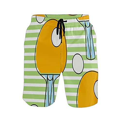 Mielpdaz Pantalones cortos de playa para hombre de la liga de la raqueta de ping pong