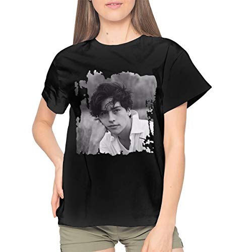 Limiaomiao Cole Sprouse Music Band Womens T Shirt Woman's Cute Top L Black