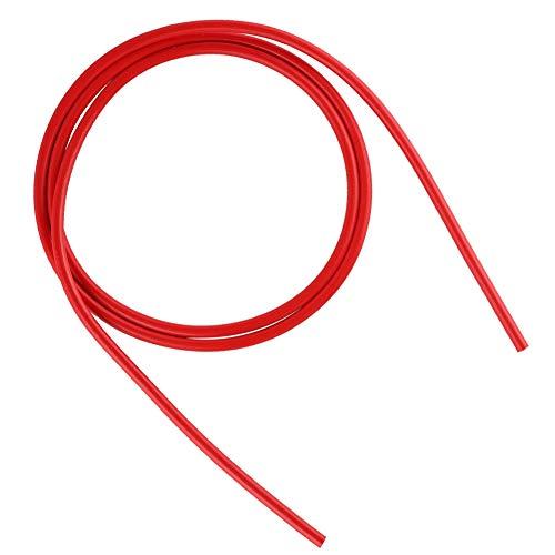 Wendry Tubo de teflón PTFE de 2 Piezas de 4 mm, Accesorios de Impresora 3D Tubo de Boquilla Impresora 3D Filamento de 1.75 mm, 1 Metro(Rojo)