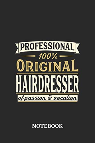 Professional Original Hairdresser Notebook of Passion and Vocation: 6x9 inches - 110 graph paper, quad ruled, squared, grid paper pages • Perfect Office Job Utility • Gift, Present Idea