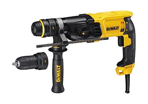 DeWalt SDS-plus Kombibohrhammer / Schlagbohrmaschine (800 Watt, max. Bohrleistung (Beton) 26 mm, Schnellwechsel-Bohrfutter, Drehstopp für Meißelarbeiten, Sicherheitskupplung, inkl. Tstak-Box), D25134K