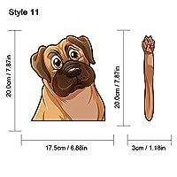 1PCおかしい漫画動物犬車の窓ワイパーステッカー装飾デカールリアフロントガラスステッカーDIYオートスタイリングカーアクセサリー (11)