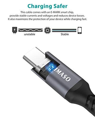Nimaso USB Typ C Kabel[2 Stück 2M],USB C Ladekabel und Datenkabel Fast Charge USB C Schnellladekabel für Samsung S10/S9/S8,Note9/8,LG G5 G6 V20,HTC 10 U11,Huawei Honor P20 Lite P10 P9,Mate9 10 usw
