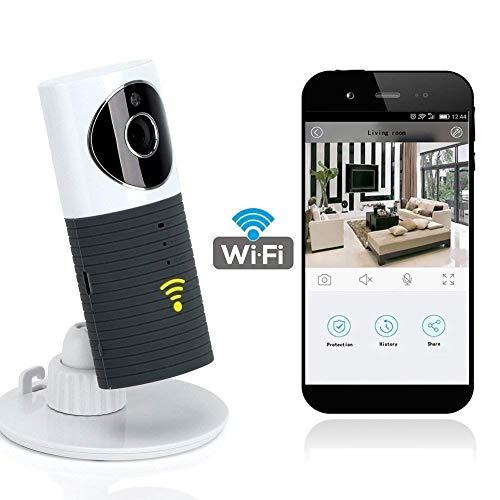 Videocamera di Sorveglianza Wifi Telecamera IP Cam Baby Monitor a infrarossi con Visione Notturna e Rilevatore Movimento Citofono a due vie Per iOS/Android