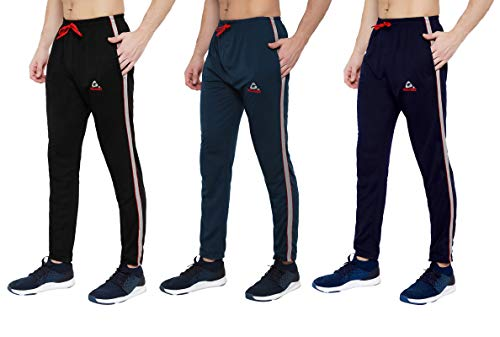 GOLAZO Men's Stylish Slim Fit Cotton Jogger Lower Track Pants for Gym, Running, Athletic, Casual Wear for Men