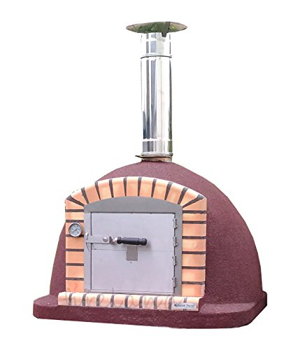 XclusiveDecor Outdoor Wood Burning Pizza Oven 1000mm Fully Insulated Oven
