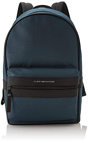 Tommy Hilfiger Elevated Nylon Backpack, Mochila para Hombre, Mystic Lake, Medium