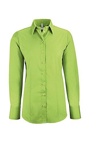 GREIFF Damen-Bluse Basic, Regular Fit, Stretch, Easy-Care, 6515, apfelgrün, Größe 48