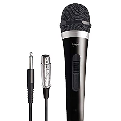 Mic1 Vocal Dynamic Handheld Cardioid Microphone with On/Off Power Switch and 10ft Detachable XLR Audio Cable for Mixer, Amplifier, Recording, Karaoke Machine, Wedding, Party, School, Podcasting etc