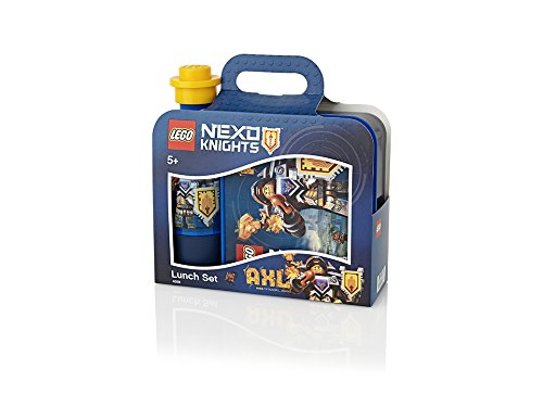 LEGO NEXO KNIGHTS Lunch-Set, Lunch Box & Trinkflasche, blau
