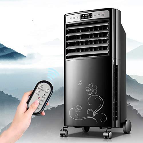 XPfj Mobile Refrigeratore Ventilatore Senza Tubo,Condizionatore d'Aria Fredda Calda, Argoclima Relax 15h Timer Umidificante Purificatore Base con Ruote Freeze Fan Plus Nero