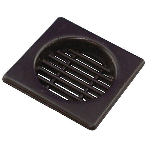 SECOTEC Lüftungsgitter 43 x 43 mm; Kunststoff braun zum Einbohren; 2 Stück