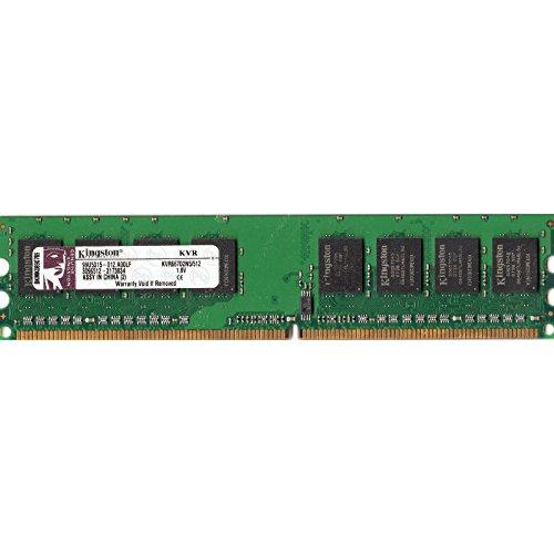 Sin búfer Kigston ValueRAM 512MB 667 mhz DDR2 Non-ECC CL5 de memoria DIMM (KVR667D2N5/512)