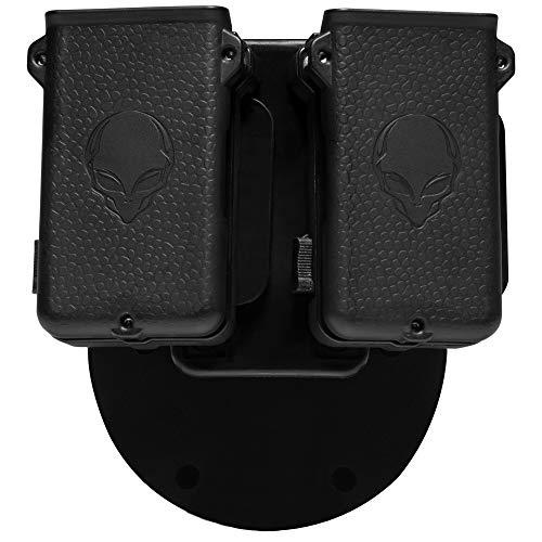 "Alien Gear holsters Mag Carrier Double - .45 ACP / 10 mm Single Stack - Comfort - 1.5"" Belt Slide"