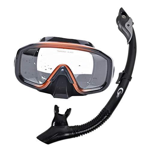 Toygogo Conjunto De Máscara De Snorkel Seco Equipo Profesional De Buceo Gafas Tubo De Respiración